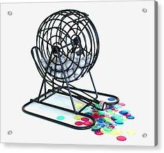 Bingo Cage Acrylic Print by Allan  Hughes