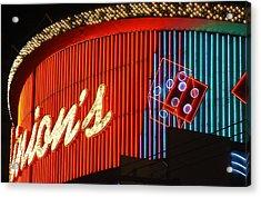 Binions Casino  Acrylic Print by Bill Buth