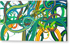 Bipolar Mania Rollercoaster Abstract Acrylic Print by William Braddock