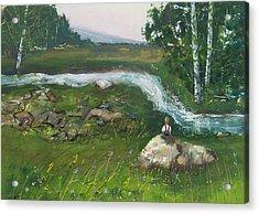 Birch Creek Acrylic Print