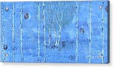 Birch Trees - The Patio Acrylic Print