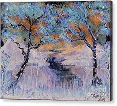 Birch Trees On The Ridge 2 Acrylic Print