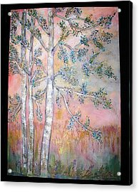 Birch Woods Sold Acrylic Print by Laurie Alpert