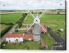 Bircham Windmill Acrylic Print by Steev Stamford