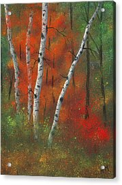 Birches II Acrylic Print by Garry McMichael