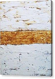 Birchwood Acrylic Print by Marsha Heiken