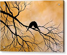 Bird Art Lost Without You By Amy Giacomelli Acrylic Print