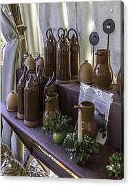 Bird Bottles For Sale Acrylic Print by Teresa Mucha