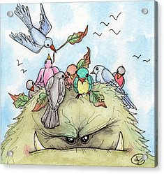 Bird Brained Acrylic Print