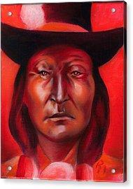Bird Chief  Acrylic Print by Robert Martinez