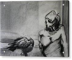 Bird Drama Acrylic Print by Brad Wilson