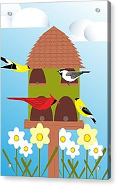 Bird Feeder Acrylic Print