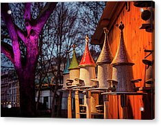 Bird Feeders At Karlsplatz Christmas Market Vienna  Acrylic Print by Carol Japp
