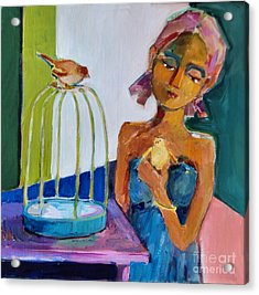 Bird Girl Acrylic Print