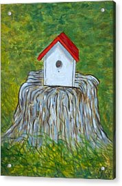 Bird House Acrylic Print by Norman F Jackson