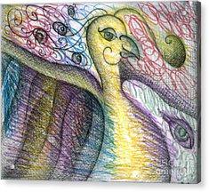 Bird Acrylic Print by Iglika Milcheva-Godfrey