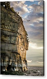 Sunset On The Pictured Rocks Acrylic Print