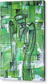 Bird Man Acrylic Print by Jera Sky