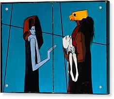 Bird Mask 36x48 Acrylic Print by Hans Magden
