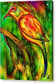 Bird On A Branch Acrylic Print by Rafi Talby