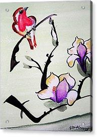 Bird On A Stem Acrylic Print