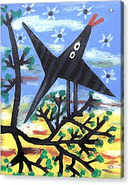 Bird On A Tree After Picasso Acrylic Print