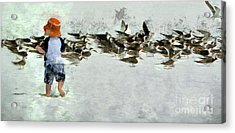 Acrylic Print featuring the photograph Bird Play by Claire Bull