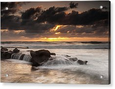 Bird Rock Clearing Storm Acrylic Print