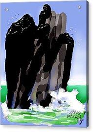 Bird Rock Off Marin Headlands Acrylic Print