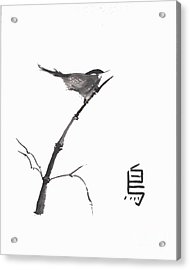 Acrylic Print featuring the painting Bird by Sibby S