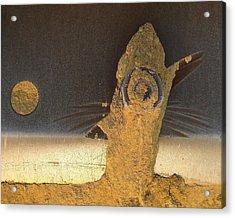 Birdfish And The Moon Acrylic Print