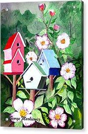 Birdhouse Acrylic Print by George Markiewicz