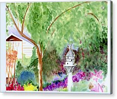 Acrylic Print featuring the painting Birdhouse by Jamie Frier