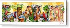 Birdhouse Tableau Acrylic Print by John Keaton
