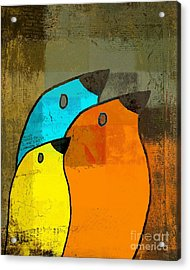 Birdies - C02tj1265c2 Acrylic Print by Variance Collections