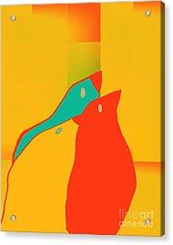 Birdies - P01p2t6 Acrylic Print