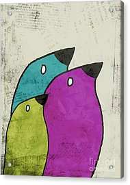 Birdies - V06c Acrylic Print by Variance Collections