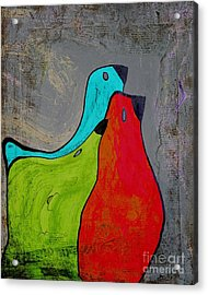 Birdies - V110b Acrylic Print by Variance Collections