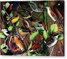 Birdland Acrylic Print by Joseph Mosley