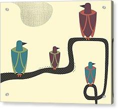 Birds - 2 Acrylic Print by Finlay McNevin