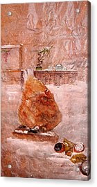 Acrylic Print featuring the painting Birds And Board by Debbi Saccomanno Chan