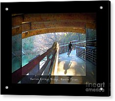 Birds Boaters And Bridges Of Barton Springs - Bridges One Greeting Card Poster V2 Acrylic Print