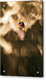 Birds-eye View Of Kayaker Acrylic Print by Panoramic Images