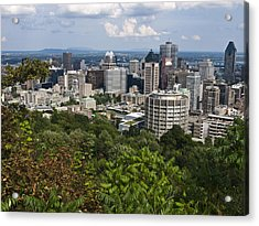Birds Eye View Of Montreal, Canada Acrylic Print by Stacy Gold