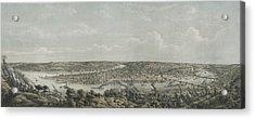 Birds-eye View Of Pittsburgh Acrylic Print by Everett