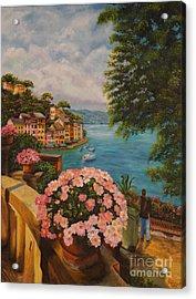 Bird's Eye View Of Portofino Acrylic Print
