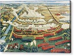 Bird's-eye View Of The Battle Of Tel El-kebir Acrylic Print by English School