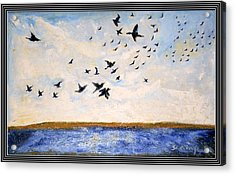 Birds In Flight At Pushkar Acrylic Print by Anand Swaroop Manchiraju