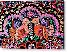 Birds In Love Acrylic Print
