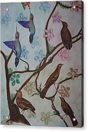 Birds Acrylic Print by Latha  Vasudevan